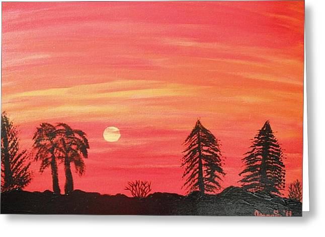 Sunset Glow Greeting Card by Jeannie Atwater Jordan Allen