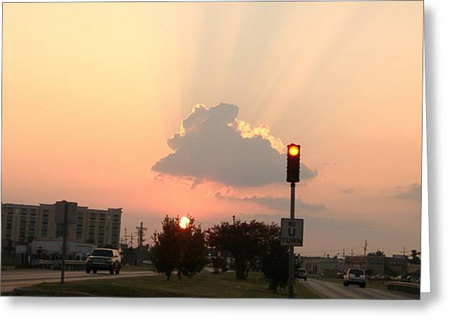 Greeting Card featuring the photograph Sunset In The City 3 by Diane Ferguson