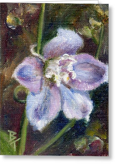 Greeting Card featuring the painting Sweet Bloom Aceo by Brenda Thour