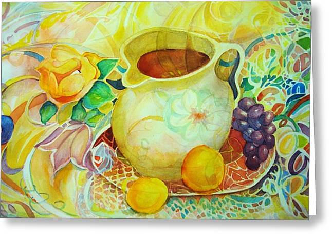 Greeting Card featuring the painting Sweet Tea by Anne Dentler