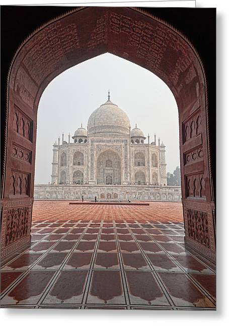 Taj Mahal - Color Greeting Card