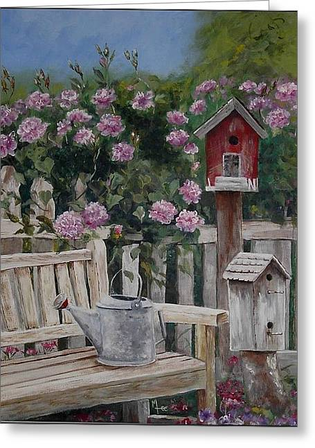 Take A Seat Greeting Card by Mary-Lee Sanders
