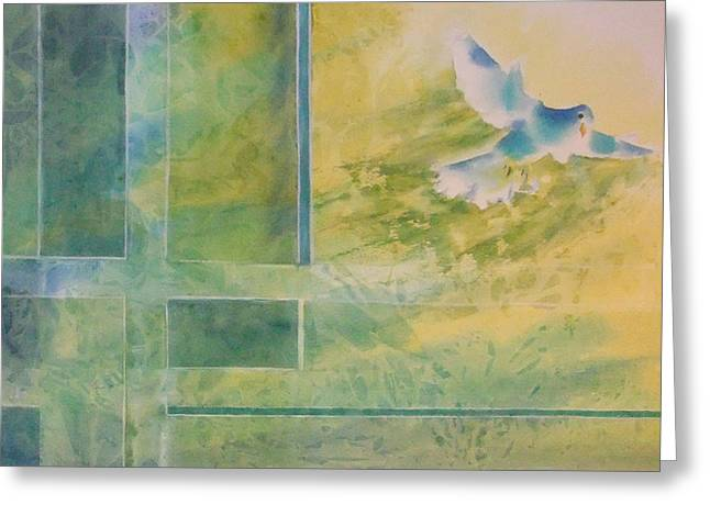 Taking Flight To The Light Greeting Card