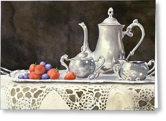Tea Time  Original Greeting Card