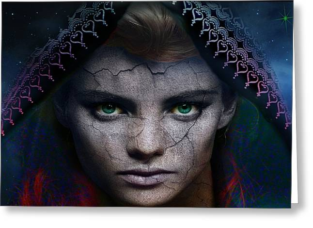 Greeting Card featuring the digital art The Eye Of The Soul by Shadowlea Is