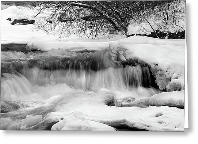 The Frigid Niagara Greeting Card by Timothy McIntyre