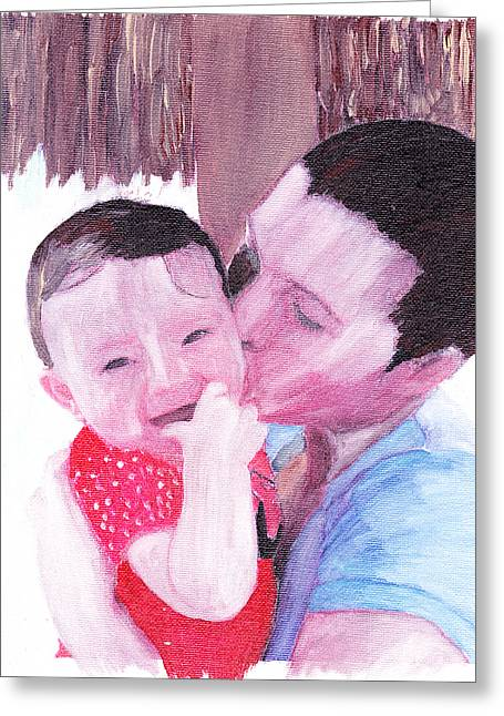 The Kiss Greeting Card by David Poyant