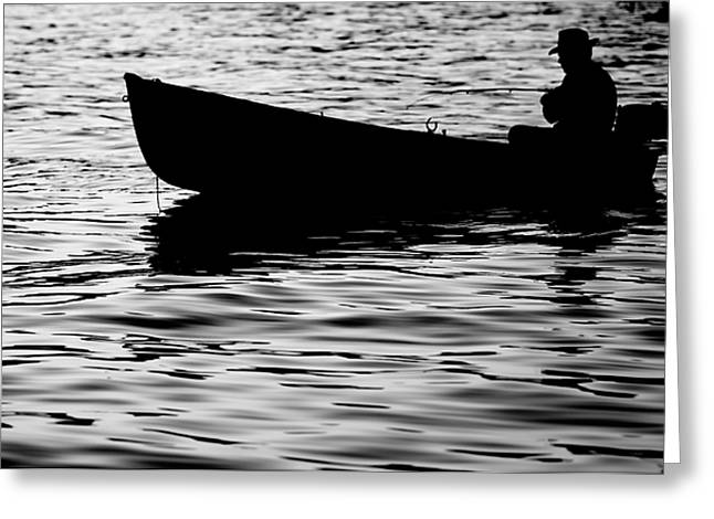 Greeting Card featuring the photograph The Old Fishermen by Pedro Cardona