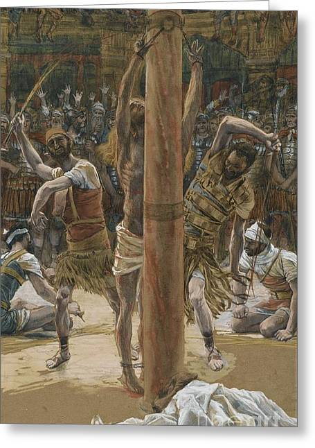 The Scourging On The Back Greeting Card by Tissot
