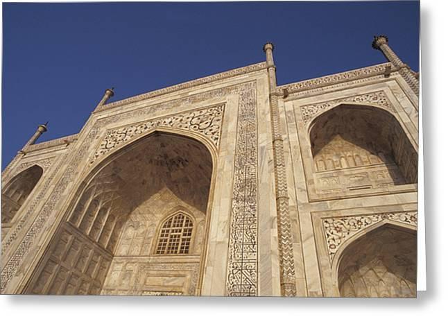 The Taj Mahals Pristine White Marble Greeting Card by Jason Edwards