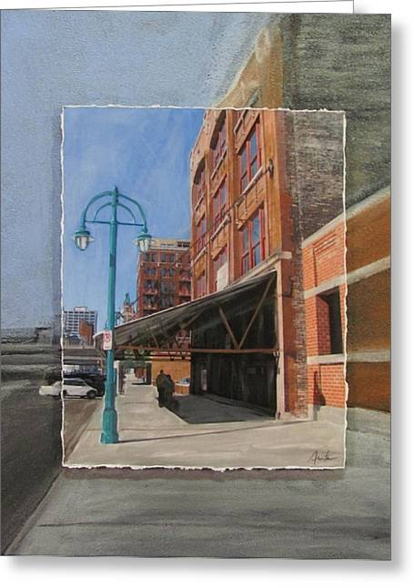Third Ward - Market Street Greeting Card by Anita Burgermeister