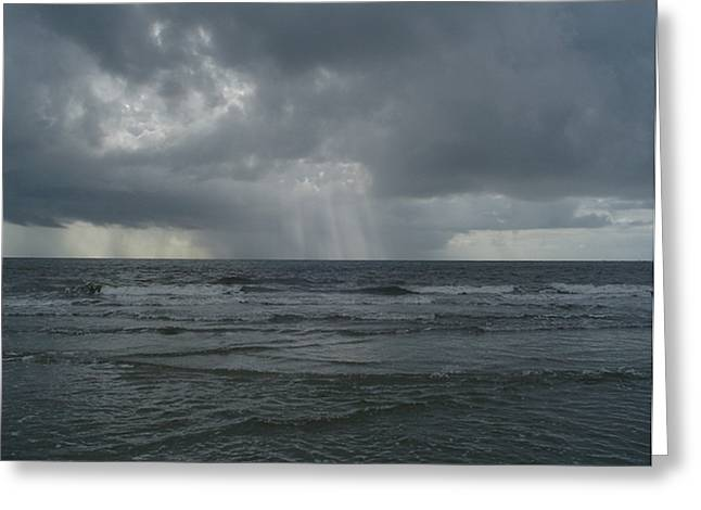 Thunderstorm Over The Ocean Greeting Card by Richard Marcus