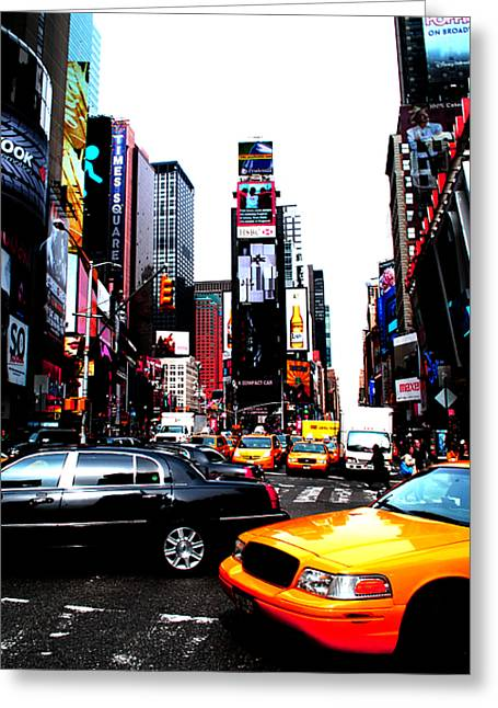Times Square Vibrants  Greeting Card by Anthony Jensen