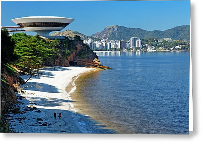 Ufo On The Cliff Greeting Card by George Oze
