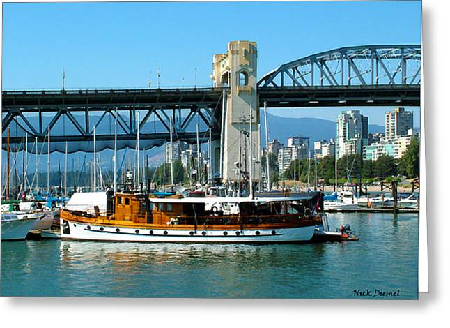 Vancouver Classic Greeting Card by Nick Diemel