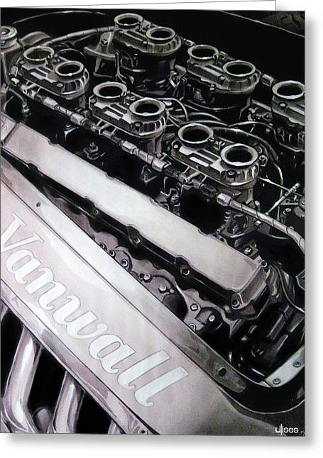 Vanwall 12-cyl Engine Greeting Card by Uli Gonzalez