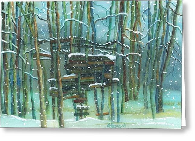 Waiting For Spring Greeting Card by Anne Havard