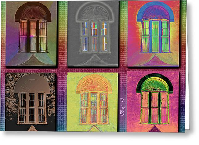 Greeting Card featuring the photograph Wall Of Windows by Larry Bishop