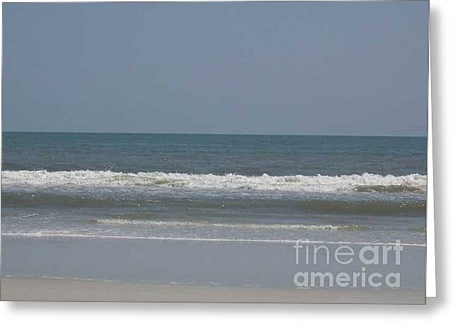 Watching The Waves Greeting Card by Barb Montanye Meseroll