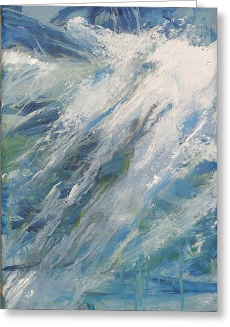 Greeting Card featuring the painting Wave by John Fish
