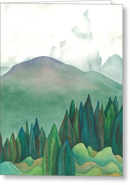 Wet Waterton Greeting Card by Anne Havard