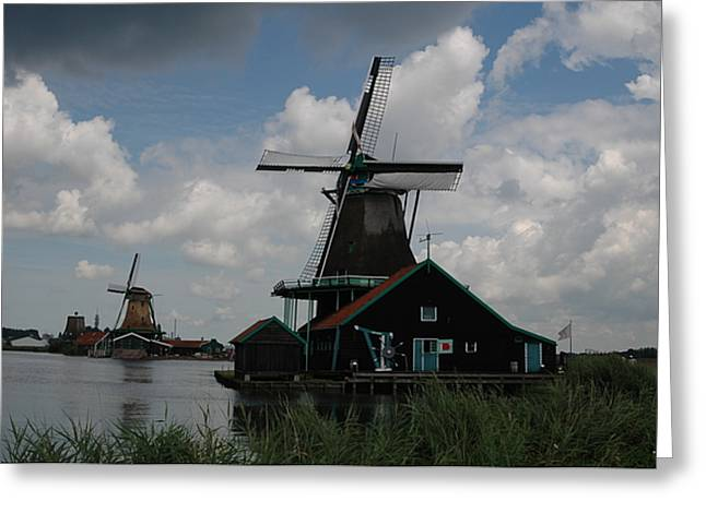 Greeting Card featuring the photograph Windmill 3 by Vilas Malankar