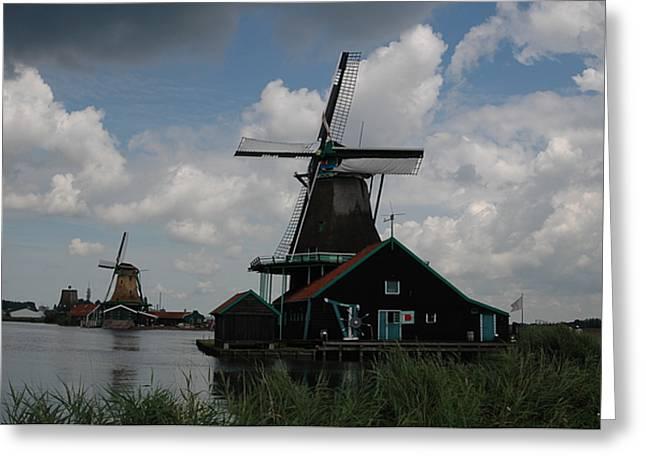 Windmill 3 Greeting Card by Vilas Malankar
