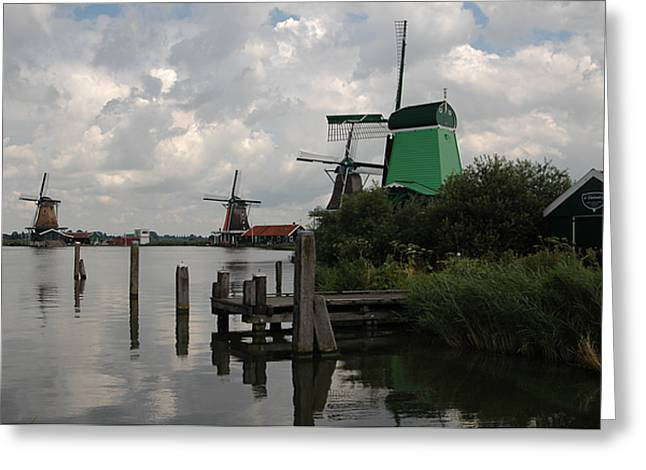 Greeting Card featuring the photograph Windmills 2 by Vilas Malankar