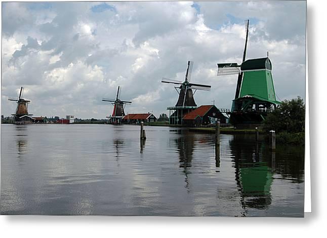 Windmills Greeting Card by Vilas Malankar