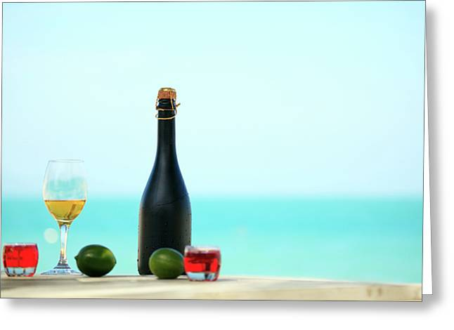 Wine  Greeting Card by MotHaiBaPhoto Prints