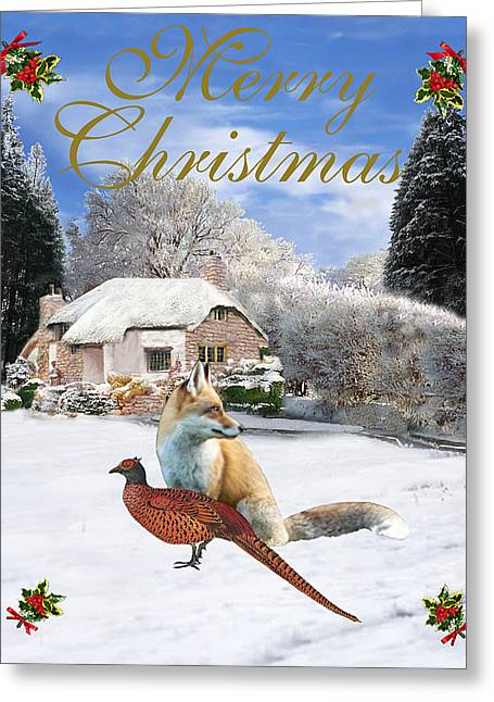 Winter Garden Christmas Greeting Card by Eric Kempson