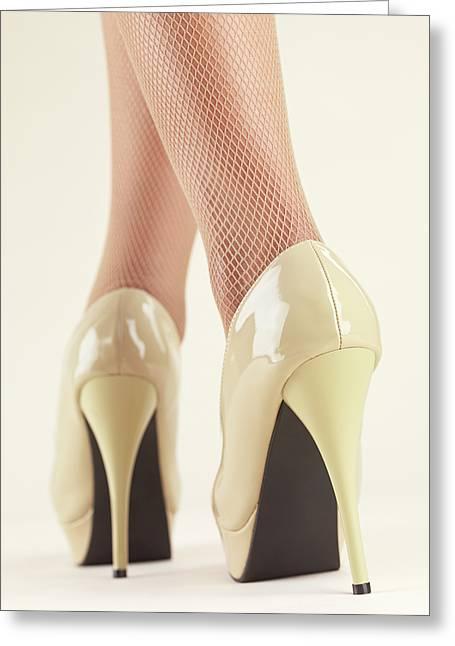Woman Wearing High Heel Shoes Greeting Card by Oleksiy Maksymenko