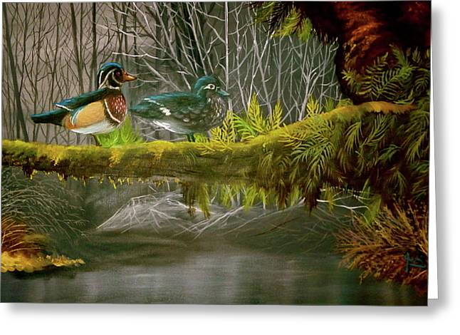 Wood Duck Love Greeting Card