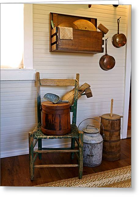 Wooden Wares And Farm Life Greeting Card