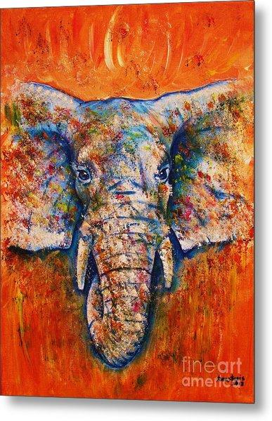Elephant Metal Print by Anastasis  Anastasi