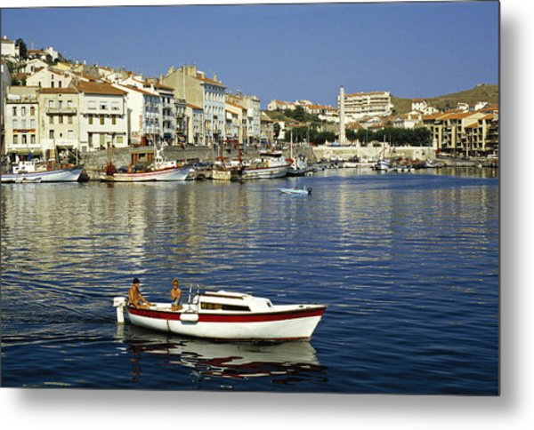 Port Vendres Harbour France 1980s Metal Print by David Davies