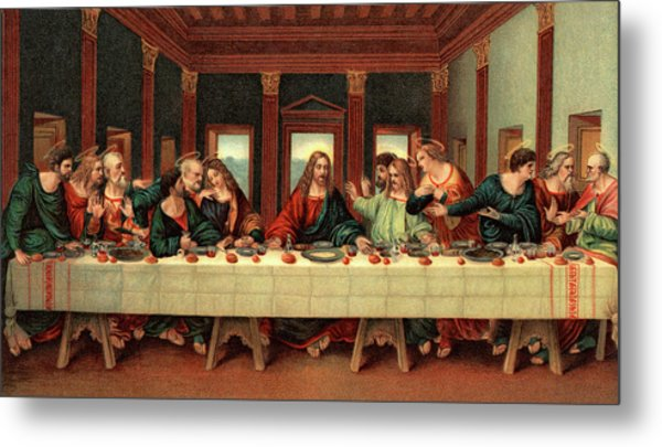 0030s The Last Supper After Leonardo Da Metal Print