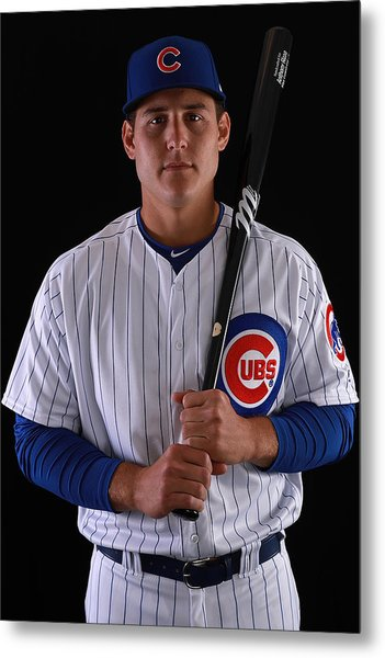 Chicago Cubs Photo Day Metal Print by Gregory Shamus