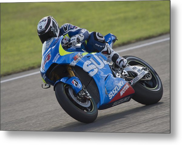 Motogp Of Valencia - Free Practice Metal Print by Mirco Lazzari gp