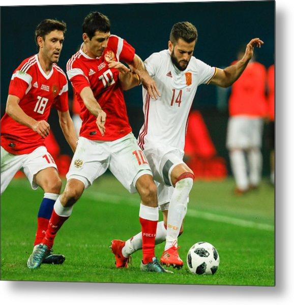 Russia Vs Spain - International Friendly Metal Print by Epsilon
