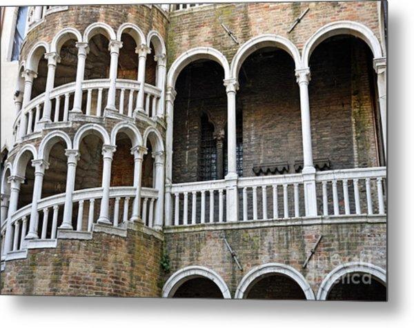 Staircase At Palazzo Contarini Del Bovolo Metal Print by Sami Sarkis