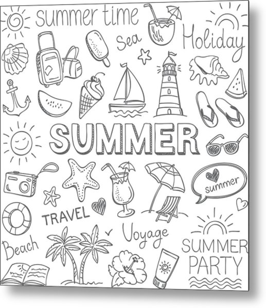 Summer Metal Print by Ulimi