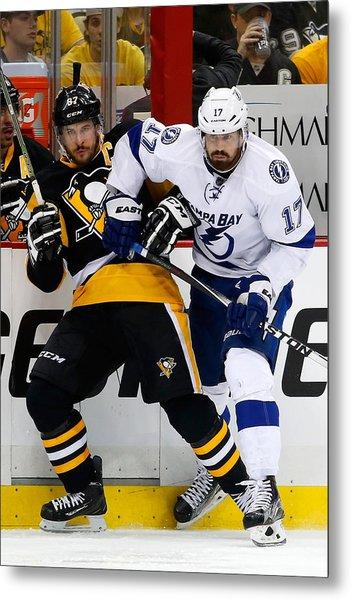 Tampa Bay Lightning V Pittsburgh Penguins - Game Seven Metal Print by Justin K. Aller