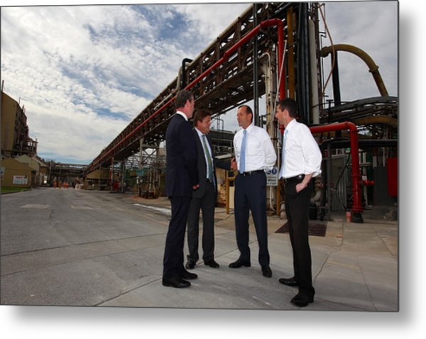 Tony Abbott Visits Adelaide As Marginal Seats Threatened Metal Print by Lisa Maree Williams