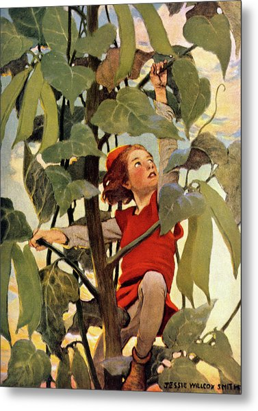 1910s Jack And The Beanstalk Fairy Tale Metal Print