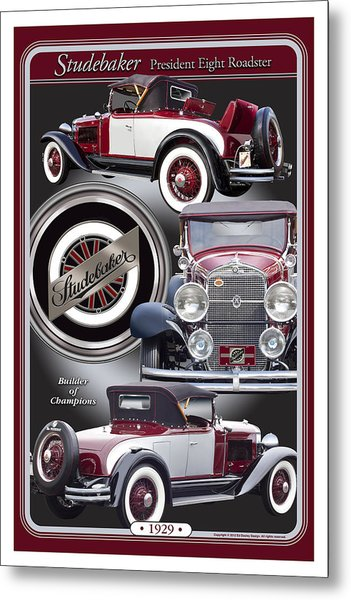 1929 Studebaker President Metal Print