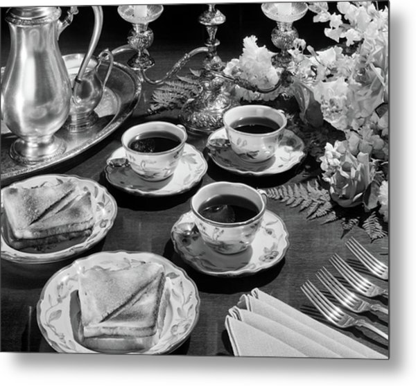 1930s 1940s 1950s Tea And Toast Formal Metal Print