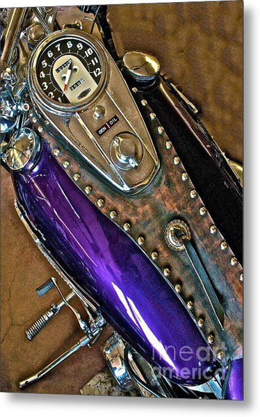 1953 Purple Harley Panhead Metal Print