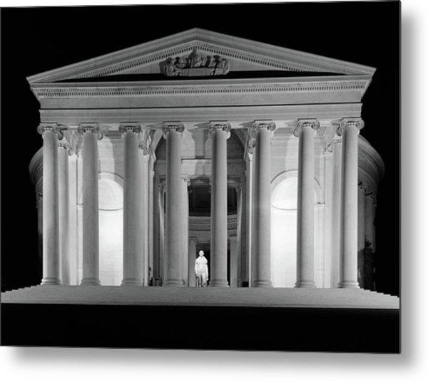 1960s Thomas Jefferson Memorial Lit Metal Print