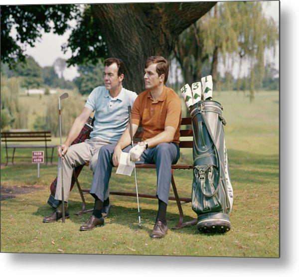 1960s Two Men Sitting Under Tree Metal Print